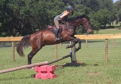 Xander first jump